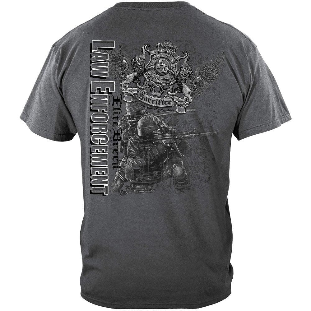 Elite Breed Elite Gray Law Enforcement Premium T-Shirt