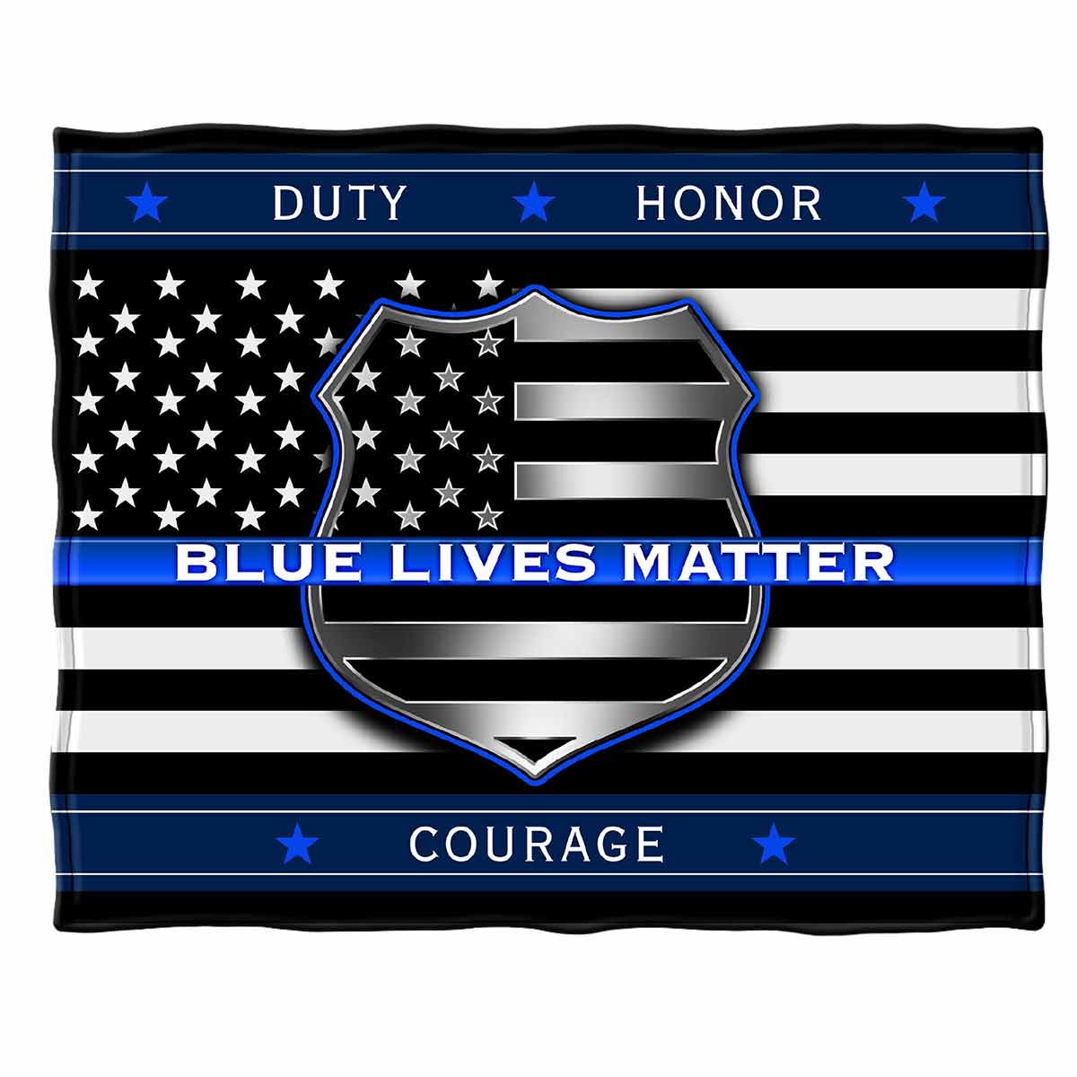 Blue Lives Matter Premium Blanket