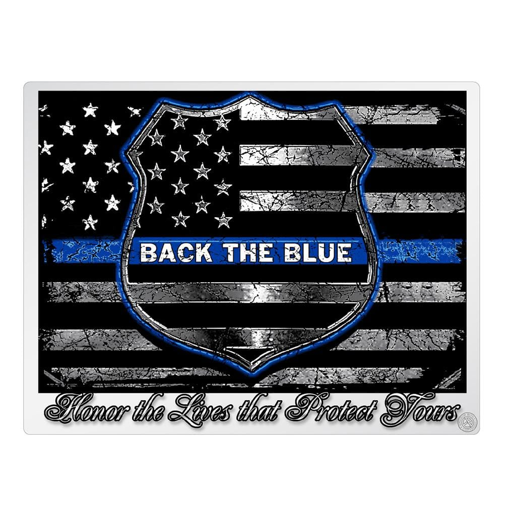 BLUE LIVES MATTER Premium Reflective Decal