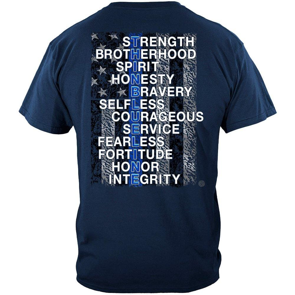 Thin Blue Line Strength, Brother Premium T-Shirt