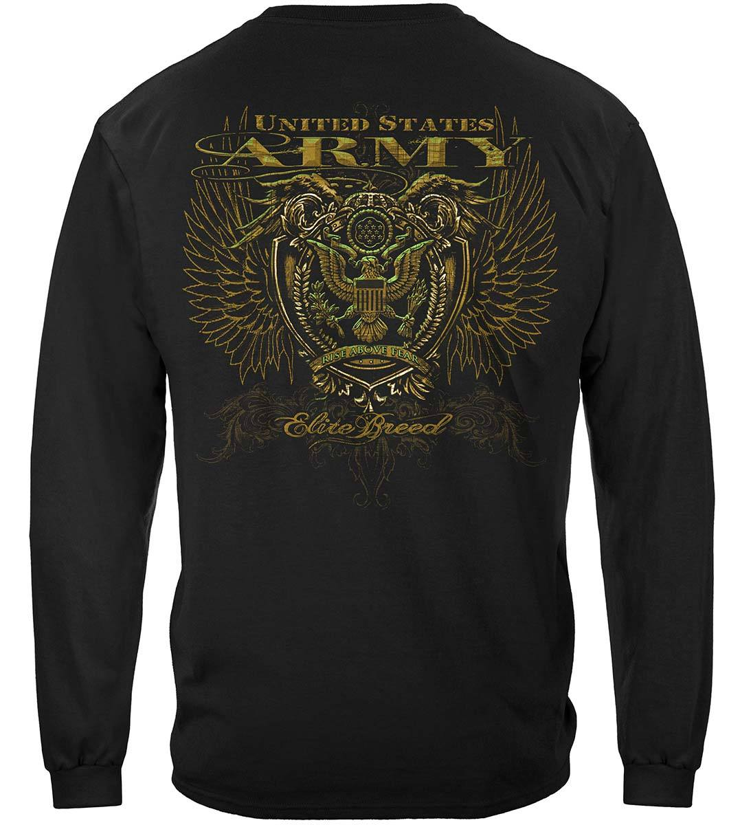Army Crest Elite Breed Rise Above Fear Premium Long Sleeves
