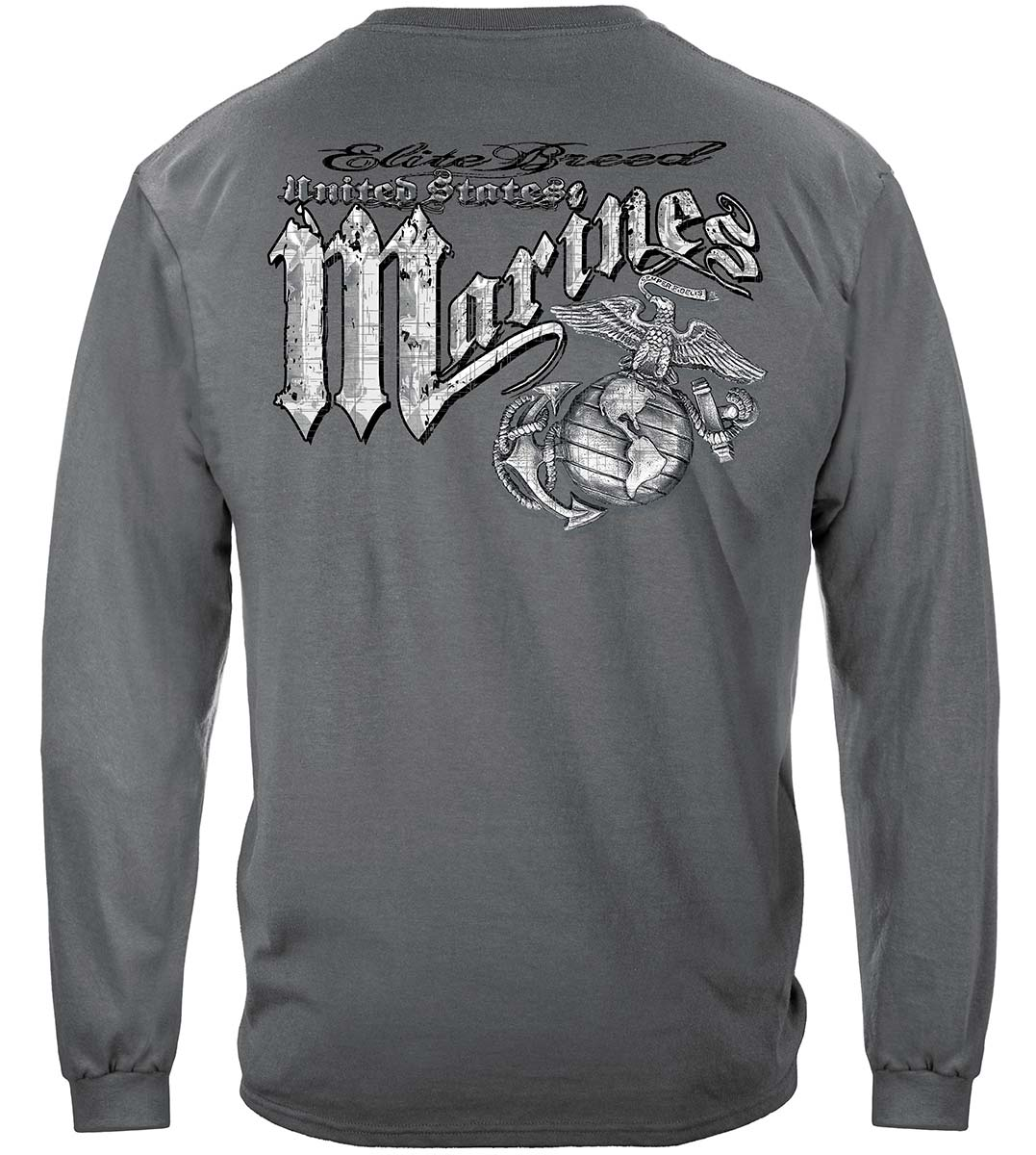 Marines Eagle Elite Breed Silver Foil Premium Long Sleeves