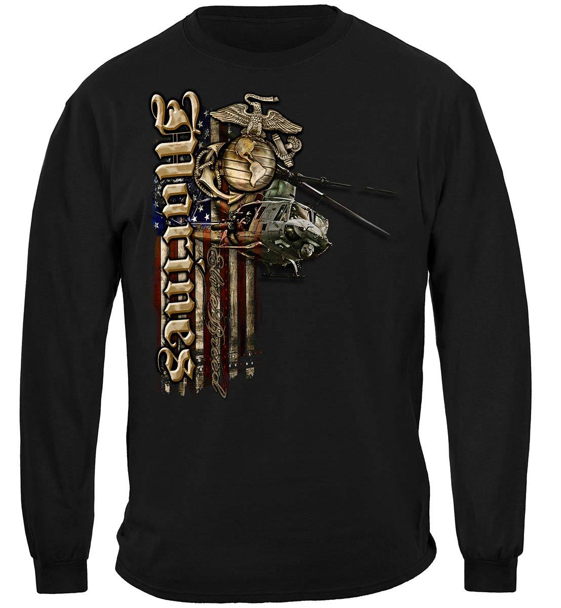 Elite Breed USMC Marines Aerial Assault Premium Hooded Sweat Shirt