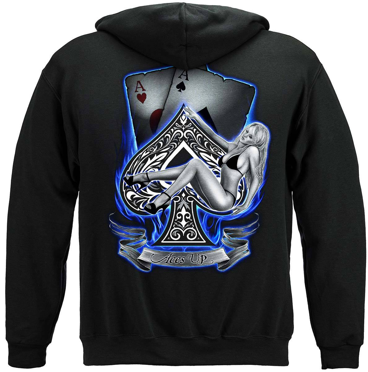 Aces Up Premium Hooded Sweat Shirt