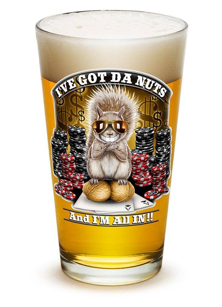 I got the Nutz Poker 16oz Pint Glass Glass Set