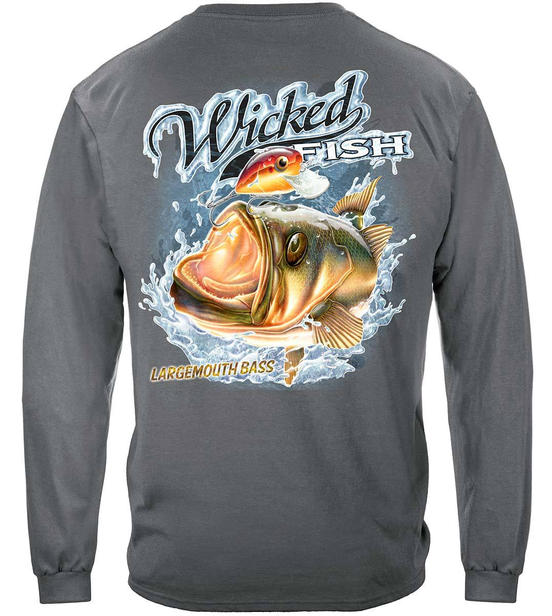 Wicked Fish Large Mouth Bass With Popper Premium Long Sleeves