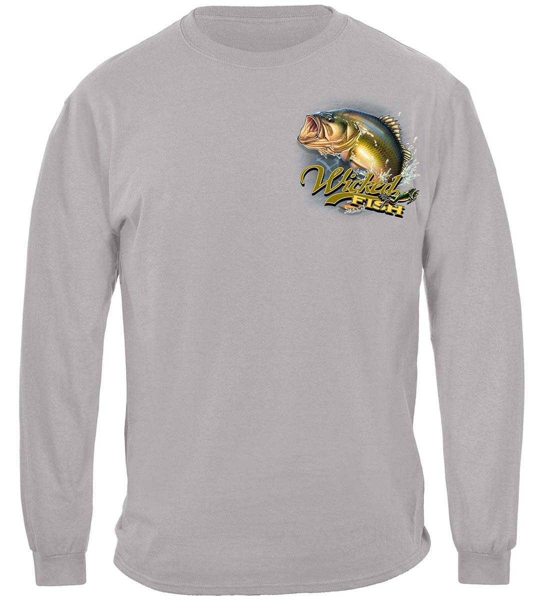 Wicked Fish Large Mouth Bass With Popper Jumping Frog Premium Long Sleeves