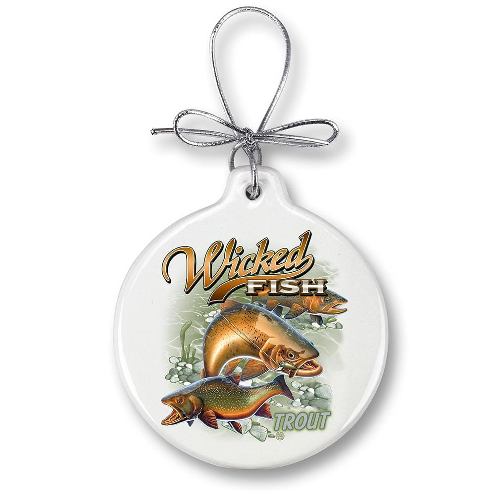 Trout Fishing Christmas Tree Ornaments