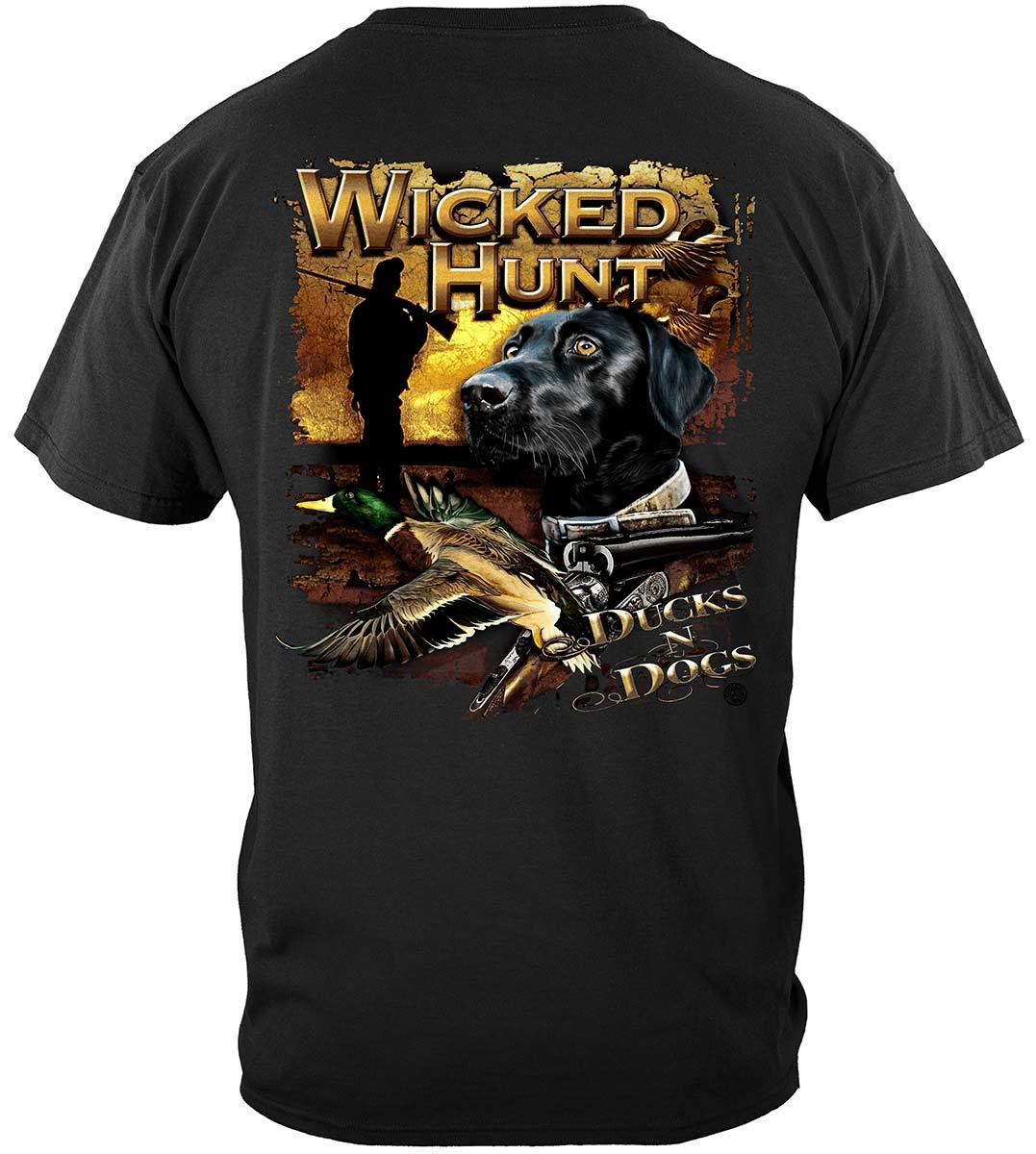 Wicked Hunt Ducks And Dogs Premium T-Shirt
