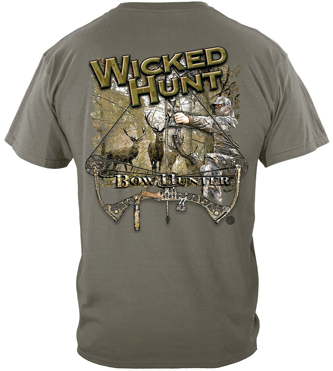 Wicked Hunt Bow Hunting Premium T-Shirt