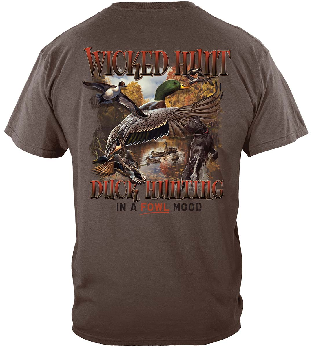 Duck Hunting In A Fowl Mood Premium T-Shirt