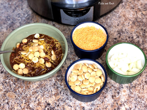 Favorite Halloween and SuperBowl Super Bowl Chili Dinner Meal Snack Football Food