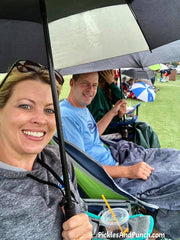 parents on the sidelines soccer game tournament pickles and punch