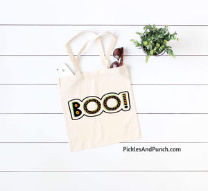 Halloween BOO! Canvas Tote
