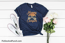 Load image into Gallery viewer, Happy Camper vintage distressed nostalgic tshirt tee statement tee graphic tee