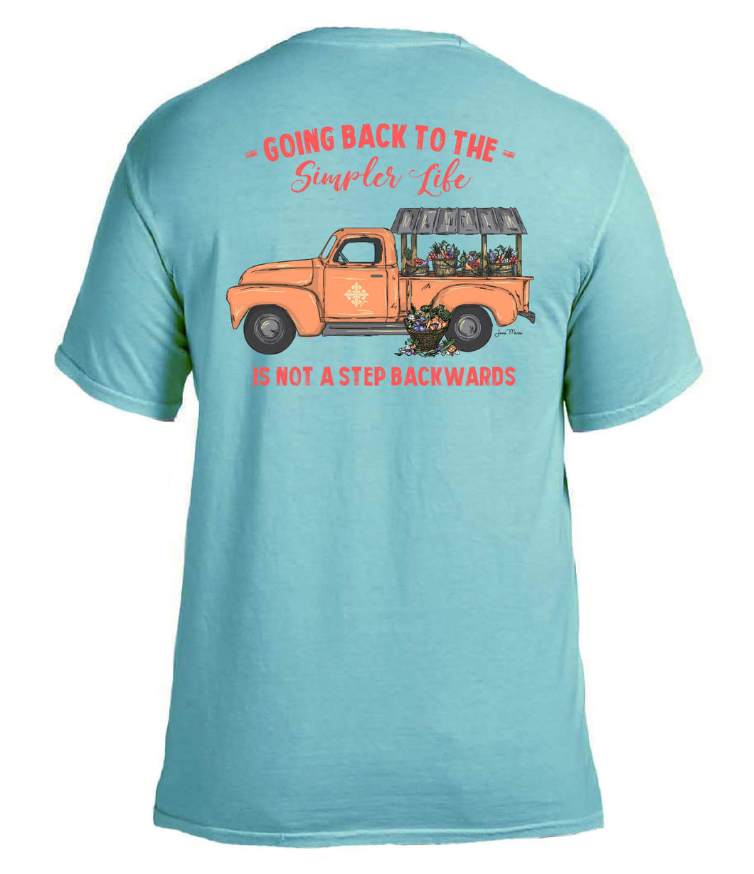 Going back to the simpler life simply southern style tshirt tee little old pickup truck fall halloween pumpkins