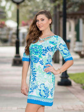 Load image into Gallery viewer, Reversible Dress In The Garden Lilly Pulitzer Inspired wear both ways forward and backward