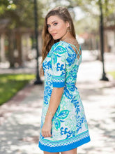 Load image into Gallery viewer, Reversible Dress In The Garden Lilly Pulitzer Inspired