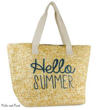 Load image into Gallery viewer, Summer tote bag beach bag pool bag cruise bag vacation bag hello summer