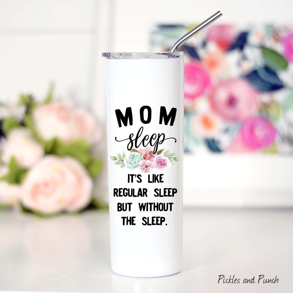 tall travel mug stainless steel lid and travel metal straw mom sleep regular mom but without the sleep
