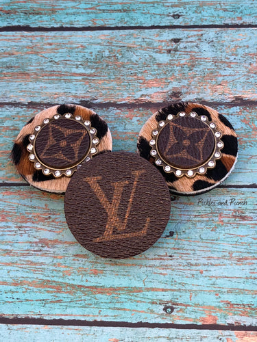 pop up phone grips sockets Louis Vuitton upcycled