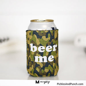 beer me Camo can koozie coolie beer hugger