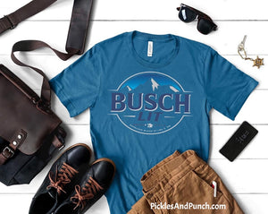 Busch Lit Busch Beer Busch Light Anheuser Busch Brewery Mountains Men's Tee Tshirt Mens graphic tee mens statement tee