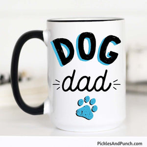 dog dad mug fathers day gift for dad gift for men