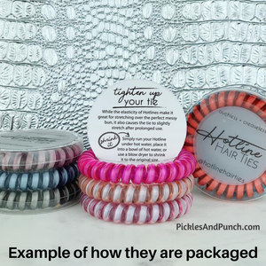 Hair Tie Sets (Sets of 3 Hair Ties) - Red Velvet Matte Set