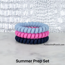 Load image into Gallery viewer, Hotline Hair Ties hair bands hair elastics hair ties that shrink when you heat them hot water blow dry  summer prep