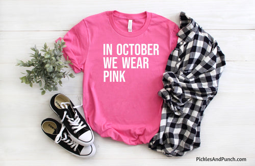 Breast cancer awareness mean girls movie quote in October we wear pink on Wednesdays we wear pink regina George