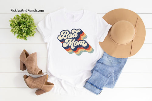 Bad Mom Vintage Logo Tee