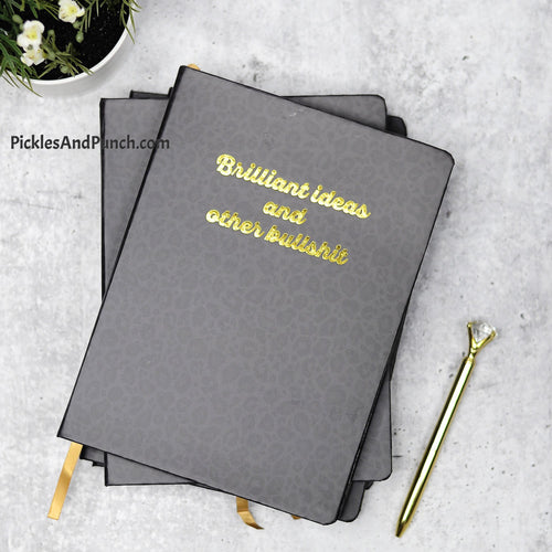 Brilliant Ideas and Other Bullshit planner journal mom notes snarky secrets