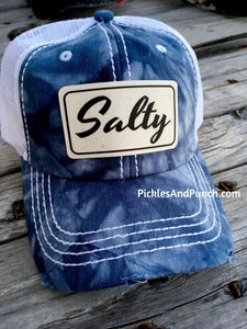 Salty Blue Water Tie Dye Trucker Hat