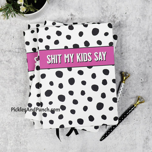 shit my kids say journal planner mom notes snarky secrets keeper