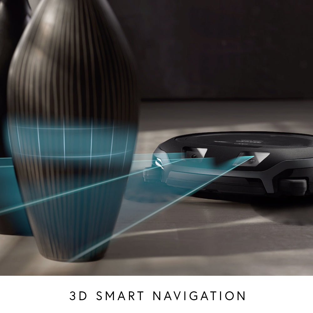 Visual of Scout vacuum's 3D smart navigation