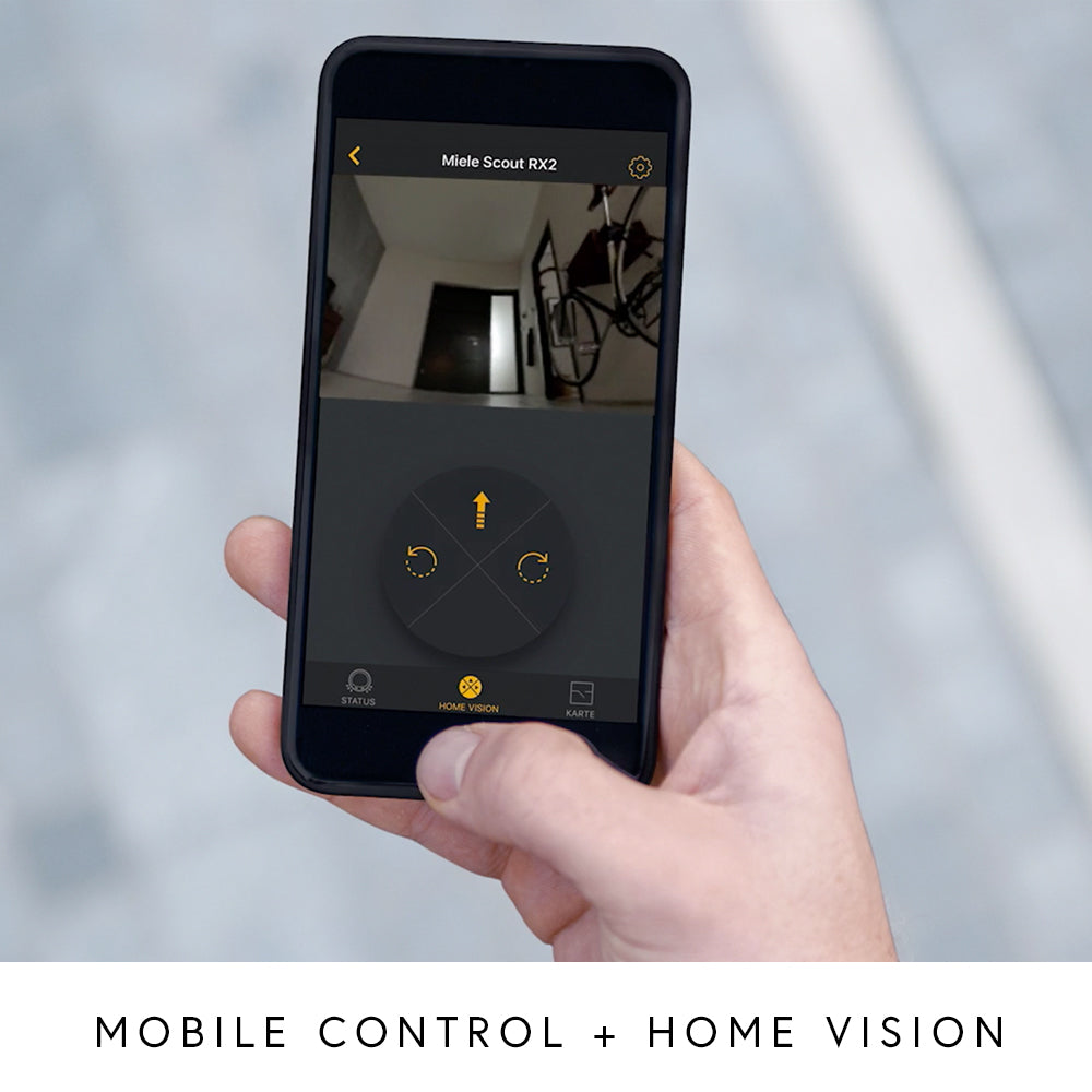 Phone featuring vacuum mobile controls and home vision