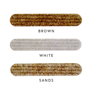 EZ Glide Surface Protector Strips in brown, white and sands