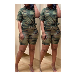 Green Camo Short Set