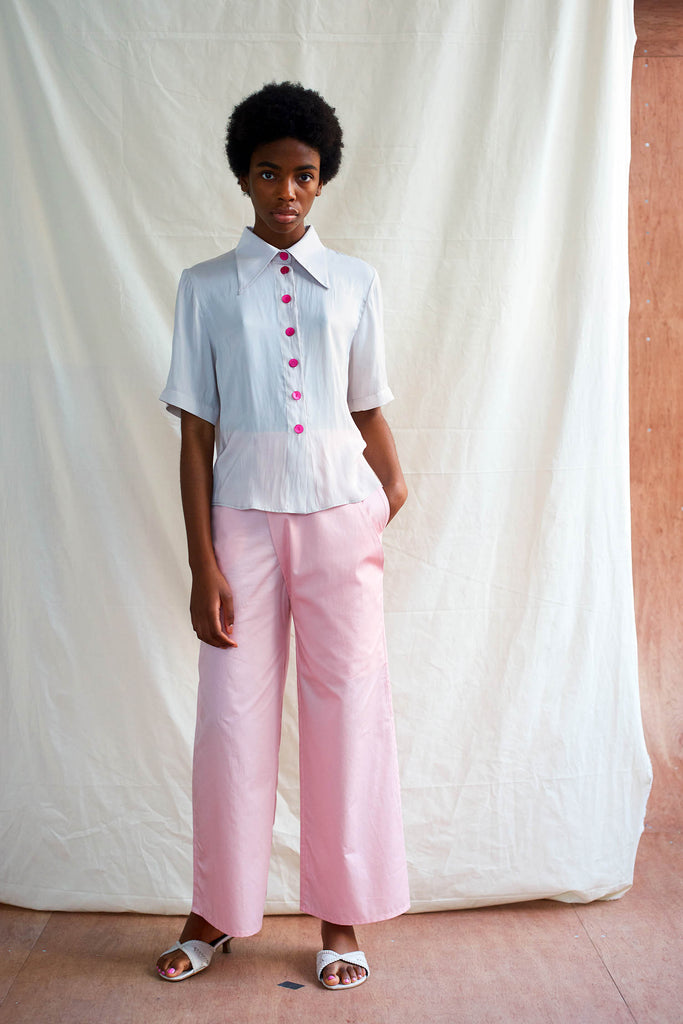 Afi Trousers Pink Cotton