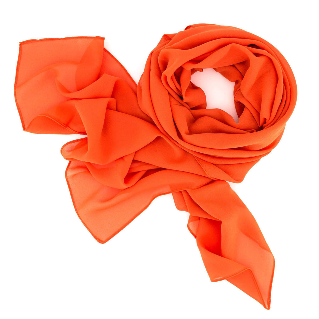 Damen Chiffon Schal | SWEET LOVE Orange - RIEMTEX