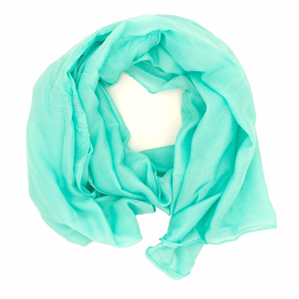 Damen Knitted Scarf | ★ WILD CAT ★ Mint - RIEMTEX