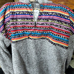 Serape & Cheetah Sherpa (brown/gray)
