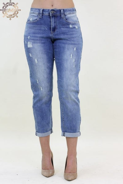 Distressed Boyfriend Capri L&B