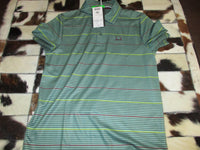 Green Striped Cinch Polo