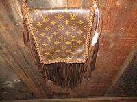 Vintage Louis Vuitton Cross body Purse with Fringe