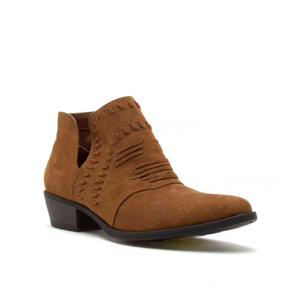 Maple Suede Booties