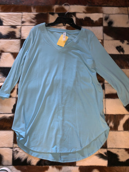 Baby Blue - 3/4 Sleeve Plain