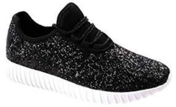 Black Sparkly Tennis Shoes
