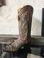 Corral Cactus Pointed-Toe Boots